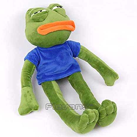 Amazon.com: GrandToyZone DOLL SERIES - 42cm (16.5 inch) Green Sad Frog Soft Stuffed Plush Doll: Toys & Games