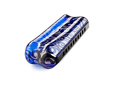 TurboTwenty (key of G) (Color: Psychedelic): Custom Special 20 Harmonica with ergonomic coverplates and rounded holes (Turboharp Harmonica)