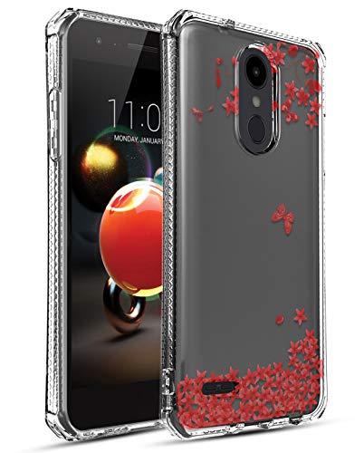 LG Aristo 3/LG Aristo 2/LG Tribute Empire/K8S/Tribute Dynasty/Phoenix 4/Rebel 4/Zone 4/Rebel 3 LTE/Risio 3/LG K8+ Plus/Phoenix 3/Fortune 2 Phone Case, OEAGO Soft Silicone Case, Flower-2