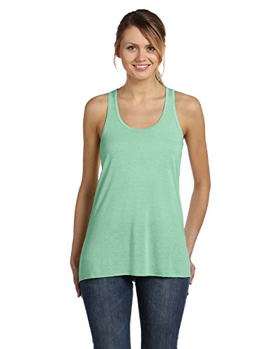 Bella 8800 Ladies 3.7 oz. Flowy Racerback Tank Medium / Pack 12 Midnight