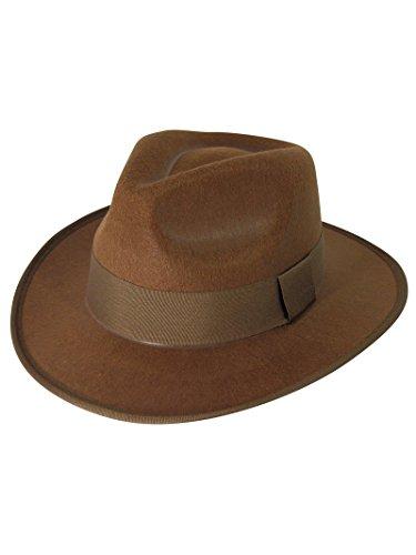 Forum Novelties 67395 Unisex-Adults Fedora Costume Headwear, One Size/Standard, Brown ()