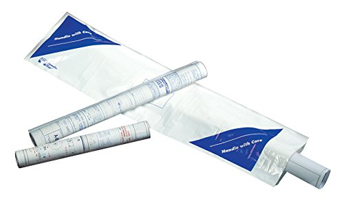 Alvin BSB44 Self-Sealing Blueprint Shipping Bag 10 inches x 44 inches by Alvin