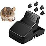 Mouse Trap, Rat Trap 6 Pack Rodent Killer Clip, Sensitive Mice Traps Catcher with Bait Cup Reusable and Durable ABS Material - Pack of 6