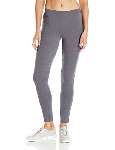 Hanes Women's Stretch Jersey Leggings Charcoal Heather L