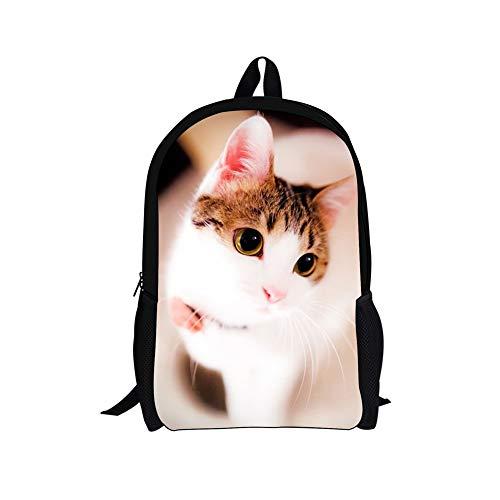 Jake Fashion Shop Kids Backpack Primary, Junior, High School Book Bag Lovely Kitty Satchel