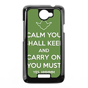 HTC One X Cell Phone Case Black Star Wars Yoda HJG Personalized Plastic Case