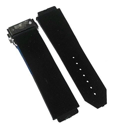 Black Rubber Watch Band Strap OEM style fit Hublot Big Bang - 25MM x 19MM