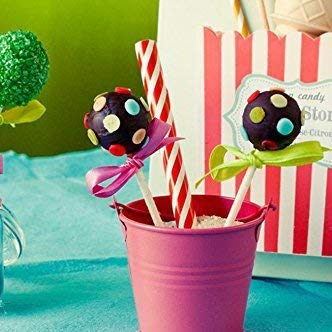 Berger 20 Pop Cake cavit/à stampi in Silicone Lollipop Vassoio Dimensioni 22,5 x 18 x 3 cm Diametro 4 cm Resistente al Calore 40 /°C a 230 /°C con 20 Stick Rosa