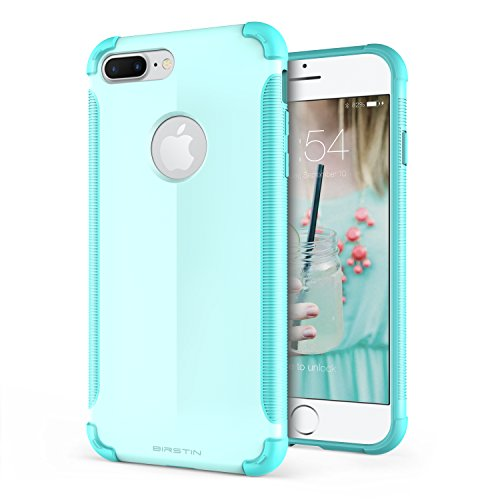 iPhone 7 Plus case, Birstin [Befun Series] Hybrid Scratch Resistant Cover with Protective Hard PC Back Plate and Anti-slip TPU Bumper Case for iPhone 7 plus - Mint / Teal / Tiffany Blue