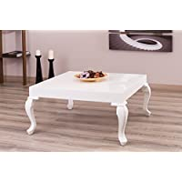 New Modern Contemporary Glossy Lacquer Lukens coffee table #7192 in White color