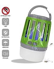 YUEFF Lámpara De Camping 2-In-1 Asesino De Mosquito,LED Multifuncional Descarga Eléctrica Mosquito Killer Exterior Impermeable USB Recargable Iluminación Mosquito Trap