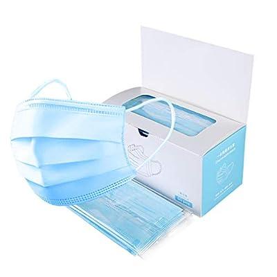 JUDI 50 Pcs Disposable Earloop Face Masks,3Ply Medical Masks,Germ and Virus Protection Masks,Anti Dust Breathable Mask