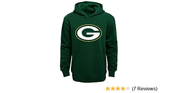 6903044b2 Amazon.com  Green Bay Packers Youth Primary Logo Green Fleece Pullover  Hoodie  Clothing