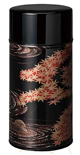 (Ryu Mei Rock Garden Tea Canister Metal Tea Tin | Imported from Japan | Red| 7oz | 162KR0 |)