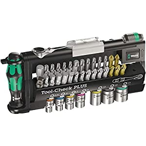 Wera 056490 Tool-Check Plus Bit Ratchet Set with Sockets – Metric