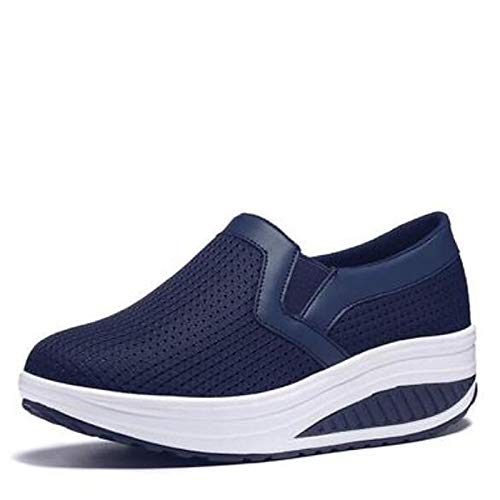 scuro Comfort Spring donna Blu PU Fucsia ZHZNVX poliuretano Grigio Sneakers da Fuchsia Scarpe zqUaYR