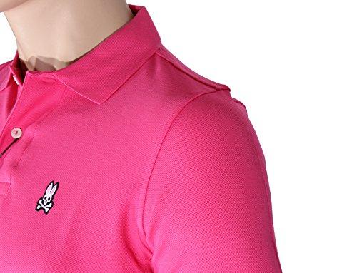 PSYCHO BUNNY Herren Poloshirt, einfarbig Rosa- Snapdragon