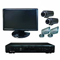 Clover Electronics TBUN19070 19-Inch Wide Screen 4-Channel All-In-One Security System with 4 Cameras - Large (Black)