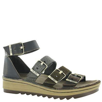 NAOT Footwear Women's Begonia Mine Brown Lthr/Hash Suede/Brown Lizard Lthr/Volcanic Brown Lthr Sandal 6 M US (Brown Lizard Padded)