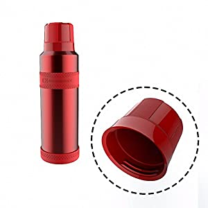 Outdoor Sport 800ml Stainless Steel Thermos Bottle w/ Silicone Cover Travel Insulated Thermo Vacuum Flask Garrafa Termica Termos Red 500ml