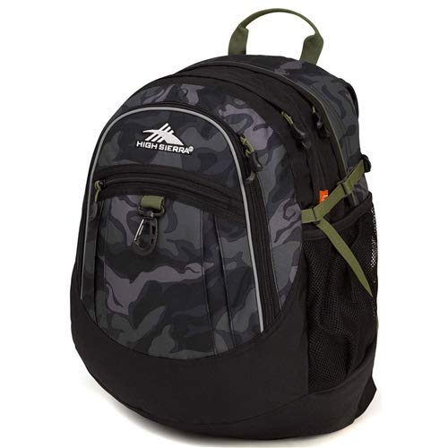 High Sierra Fatboy Backpack, Camo/Black/Moss
