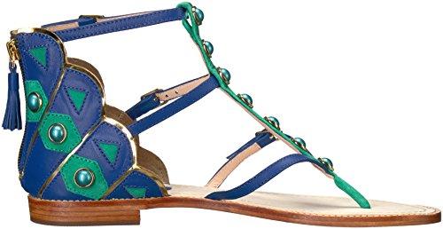 Kate Spade New York Vrouwen Soto Flat Sandaal Blauw