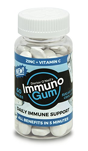 Cheap Doctor O'Neil's Immuno Gum Daily Immune Support Formula 60 Pieces, Cool Mint