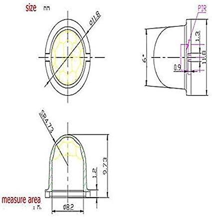 5Pcs Body Pyroelectric Pir Infrared Sensor Map 8308-4 Mini White Fresnel Lens wu