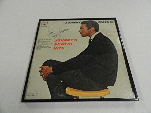 johnny-mathis-signed-framed-johnnys-newest-hits-album-lp-legend