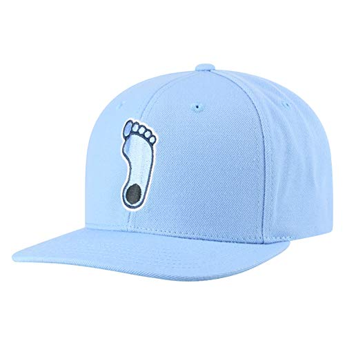 Top of the World NCAA Men's Flat Brim Snap Back Team Icon Hat, North Carolina Tar Heels Blue, - Tar Carolina North Heels Cap