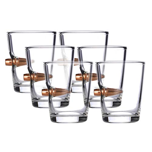.308 Real Solid Copper Projectile Hand Blown Shot Glass - Set of 6 by Old Southern Brass (Image #4)