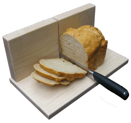 Maple Bread Slicer Classic - Solid Hard Maple, Heavy Duty Bread Slicer