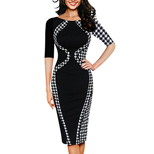 Tie Denim Halter (kaifongfu Pencil Dress, Fashion Womens Bodycon Short Sleeve Party Business Style Sexy Pencil Mini Dress (XXXXXL, Black))
