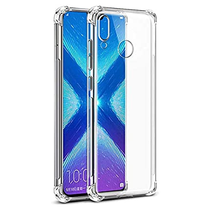 new style c65bb 8b296 Tarkan [Bumper Corners with Air Cushion Technology] -Shock Proof Protective  with Soft and Transparent Back Case Cover for Honor 8X (Crystal Clear)