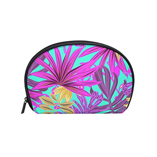 - Thomas Eugene Cute Shell Shape Tropical Greens Print Zipper Cosmetic Bag(8 x 2.5 x 5.5 in)