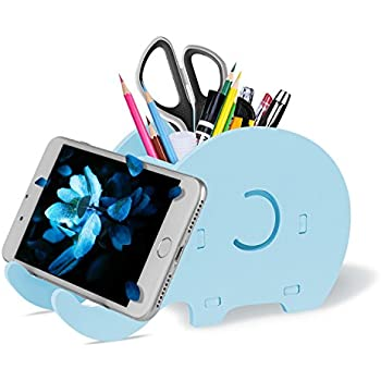 brand new abb23 d8e0f COOLOO Pencil Holder Cell Phone Stand, Cute Elephant Office Accessories  Tablet Desk Bracket Compatible with iPhone iPad Smartphone, Desk Decoration  ...
