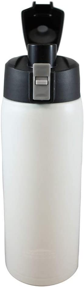 Aquatix (Artic White, 21 Ounce) Pure Stainless Steel Double Wall Vacuum Insulated Sports Water Bottle with Convenient Flip Top - Keeps Drinks Cold for 24 Hours, Hot for 6 Hours