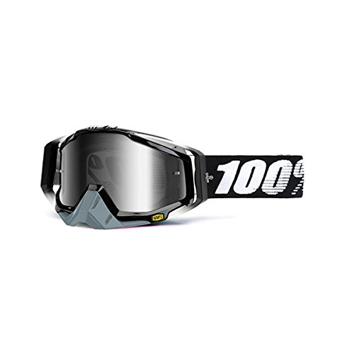 100% unisex-adult Goggle (Black,Mirror Silver,One Size) (RACECRAFT RC ABYSS Black Mirror Lens - Niagara Of Outlets Fashion