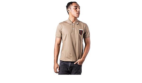 Gucci Hombres del Logotipo Bordado Beige Polo Beige Beige Small ...