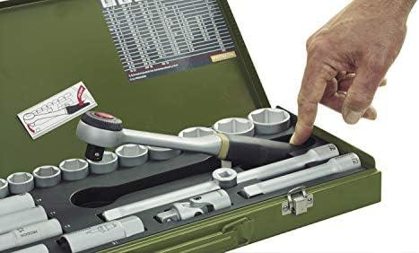 Proxxon 23110 Socket Set, Multi-Colour, 3/8-Inch, Set of 24 Pieces