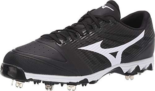 Mizuno 320583.9000.13.1000 9-Spike Ambition Low Mens Metal Baseball Cleat Black-White (9000) 10 (1000)