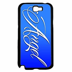 Angel on Blue Background- Plastic Phone Case Back Cover Samsung Galaxy Note II 2 N7100