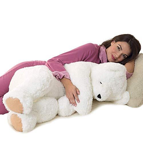 Vermont Giant Teddy Bear - Giant Cuddle Buddy Bear, 3 Foot Teddy Bear, White