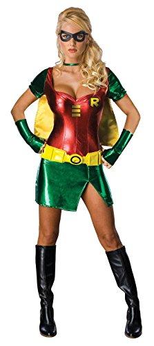 [Secret Wishes Batman Sexy Robin Costume, Green, S (4/6)] (Mens Bedroom Costumes)