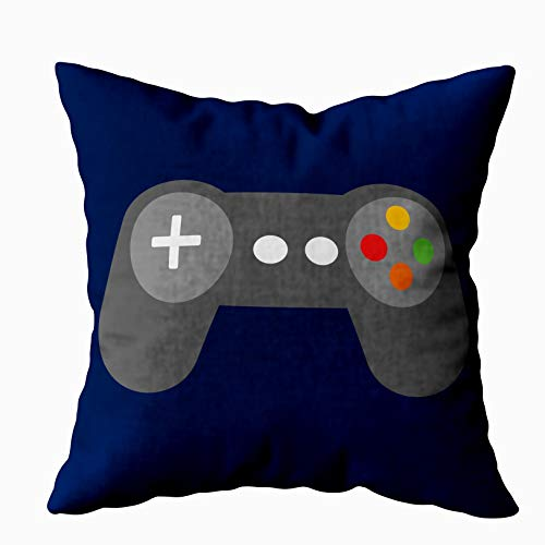 - Musesh Blue Video Games Controller Lumbar Cushions Throw Pillow Ccovers for Sofa Home Decorative Pillowcase 18X18Inch Pillow Covers