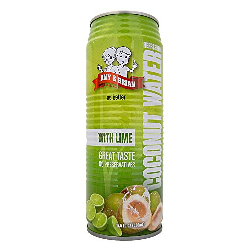 (Amy & Brian Coconut Water with Lime, 17.5  Fl. Oz Can (Pack of 12))