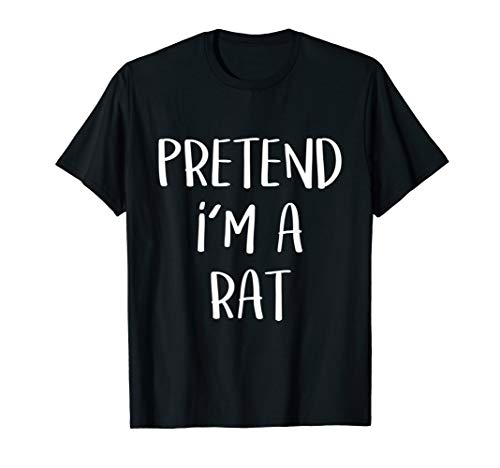Pretend I'm A Rat Costume Funny Halloween Party -