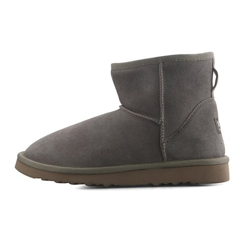 Winter Leather Lovely Grey Boots Snow Womens New xRP4Iqnw
