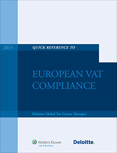 Quick Reference To European VAT Compliance
