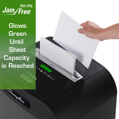 Swingline Jam Free Paper Shredder, 22 Sheets, Strip-Cut, 5-10 Users, DS22-13 (1758575)